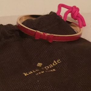 Kate Spade Red/Gold Bow Bangle